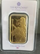 Una And The Lion 1 Oz Gold Bar Minted