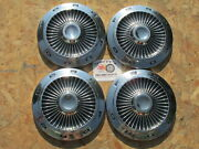 1963 Ford Galaxie R Code 427 Turbine Style Poverty Dog Dish Hubcaps Set Of 4