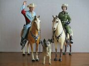 Vintage 1950's Hartland Early Roy Rogers Dale Evans W/bullet Complete