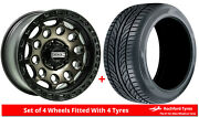 Alloy Wheels And Tyres 17 Axe At4 For Nissan Pathfinder [mk2] 95-05