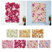 Romantic Flower Panels Silk Privacy Hedge For Wedding Party Venue Decoration