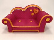 Lalaloopsy Pink Couch With Orange Trim Fits 2 Full Size Dolls Retired