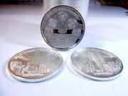 Lot Of 3 9/11 Twin Towers Remember Rare Collectible .999 Silver Coins T2