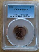 1951 Red Pcgs Ms-66 Lincoln Bu Coin Uncirculated Cent Whole Set Listed