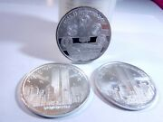 Lot Of 3 9/11 Twin Towers Remember Rare Collectible .999 Silver Coins T3
