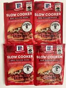 4 Pkgs Mccormick Slow Cookers Bbq Pulled Pork Seasoning Mix 1.6oz Exp 2022 New