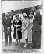 1959 Press Photo Queen Elizabeth President Eisenhower And Their Spouses In Canada
