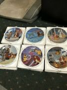 Set Of 6 Lady And The Tramp Collector Plates-knowles-disney-in Original Container