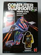 Very Rare Computer Warriors - Pepsi Can Gridd Toy Mattel Sealed Box 1989