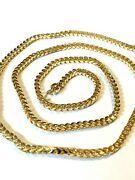 24 Inch 2.5mm Italian 18k Solid Gold Franco Link Chain Mens/womens Weighs 26.8g