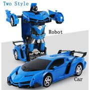 Rc Toy Car Transformation Robots Action Models Remote Control Children Kids Gift