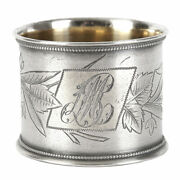 Antique Silver Napkin Ring Decorative Wonderful Russian Empire Gilding Moscow