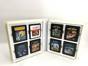 Atari 8 Game Lot With Vintage Brown Carying Case Pac-man Space Invaders