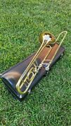 C.g. Conn Step-up Model 52hl Tenor Trombone With F Attachment Advanced Student..