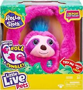 Little Live Pets Rollo The Sloth Bendable Arms-moves-reacts To Sounds-repeats