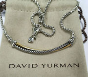 David Yurman Necklace With 18k Yellow Gold Sterling Silver