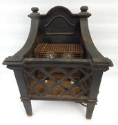 Antique 1920s Magicoal Cast Iron Electric Heater Fireplace Insert Space Heater