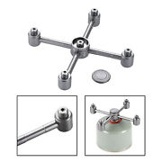 Camping Stove Adapter Propane Gas Tank Furnace 5 Converter Connector Hiking