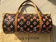 Louis Vuitton Monogram Water Color Papillon Handbag Brown From Japan F/s Used