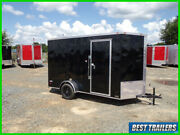 2021 Freedom New 6 X 12 Enclosed Cargo Single Motorcycle Trailer 7 Tall