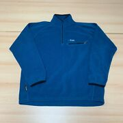 Rab Fleece Mens Extra Large Xl Blue 1/4 Zip Pullover Wind Stopper Jacket