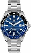 Authentic Tag Heuer Aquaracer Blue Dial Menand039s Watch Way201t.ba0927 Msrp 3050