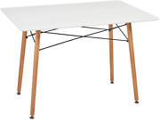 Greenforest Dining Table Wood Top And Legs Modern Leisure Coffee Table Home And