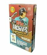 2021 Topps Archives Signature Series Retired Player Edition Sealed Baseball Box