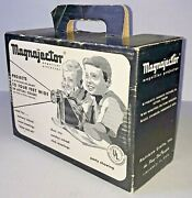 Vintage 1960 Magnajector Magnifier Projector Toy Rainbow Crafts Mj100 W Orig Box