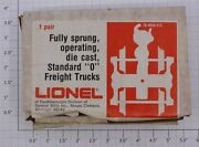 Lionel 9550-212 Fully Sprung Operating Die Cast Frieght Truck 10 Packs Of
