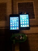 2 Apple Ipod Touch 4th Generation 8gb A1367 - Cracked Screen