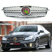 For Mercedes-benz C-class W204 Grill C300 C350 2007-2014 Grille And Brabus Emblem