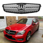 For Mercedes-benz C-class W204 C300 C350 2007-2014 Front Grill Grille And Emblem