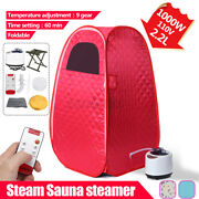 2.2l Portable Steam Sauna Spa Tent Slimming Detox Home With Chairand Blanket Andbag