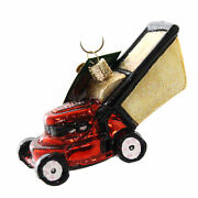 Old World Christmas Lawn Mower Glass Lawn Care Cut Grass 32321