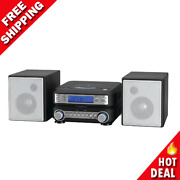 Stereo Home Cd System Player Mp3 Radio Room Speakers Remote Compact Am/fm New