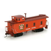 Roundhouse 84384 Ho Rtr Cn 30' 3-window Caboose 77704 Ln/box