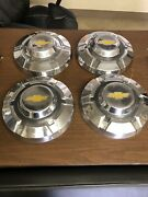 1969-1975 Chevy C20 3/4 Ton Truck Factory Oem Stainless Dog Dish Hubcaps