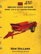 New Holland 470 And 475 Manure Spreader Parts Manual