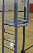 Adjustable Height Clamp-on Volleyball Officials Platform With Padding Color Gray