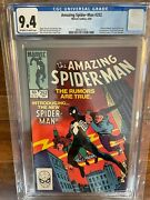 Amazing Spiderman 252 Cgc 9.4 Off White To White Pages First Appearance 1984