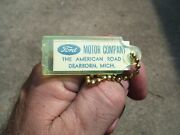 Vintage 1960and039 S Ford Accessories Nos Promo Fomoco Auto Old Key Holder Fob Part