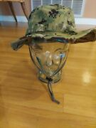 Us Navy Nwu Type Iii Aor2 Digital Woodland Boonie Hat Size Large Seal Nsw Swcc