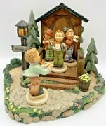 Hummel Little Music Makers Series Set In Hummelscape All 4 Figurines Are Tmk6