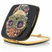 Jay Strongwater Lilah Skull Compact Mirror 14k Gold Scb8083-289