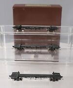 W And R Ho Brass Northern Pacific Truss Rod Log 3-car Set Painted Ln/box