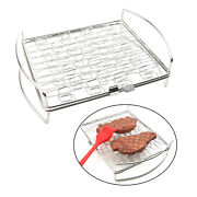 Foldable Bbq Grill Basket Meat Vegetables Steak Grill Net Outdoor Camping