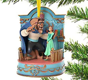 Disney Store Beauty And The Beast Christmas Ornament Singing 2020 Belle Beast