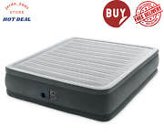 Intex Dura Beam Plus Series Elevated Mattress Airbed With Built-in Pump, King