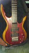 Rare Weisse Hugel Koralle 5 String Electric Bass W/ Wh Soft Case Hard To Find
